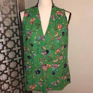 ROSE + OLIVE Size S green sleeveless top